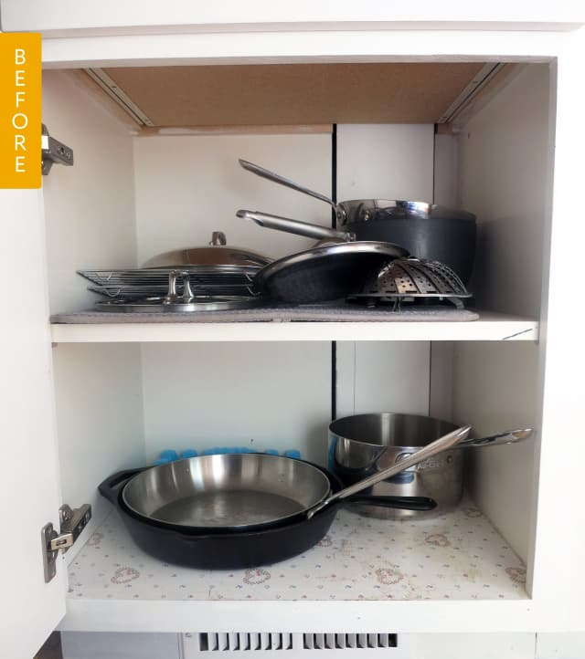 Kitchen Appliances Regina: Cookware Cabinet Before & After: The Simple Solution That