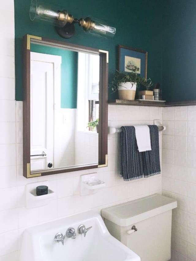 A Reversible Rental Bathroom Makeover Under 500
