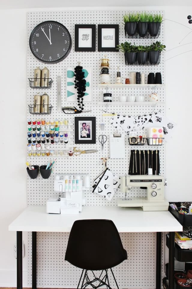 helpful diy organizers for small household items apartment therapy. Black Bedroom Furniture Sets. Home Design Ideas