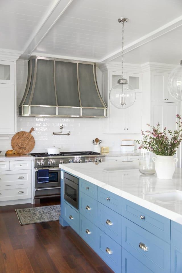Painting Ideas - Blue Kitchen Cabinet Colors | Apartment ...