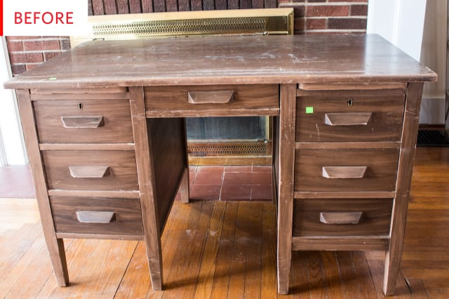 Before and After: A $1300 Pottery Barn Desk Now Has a $60 Doppelgänger