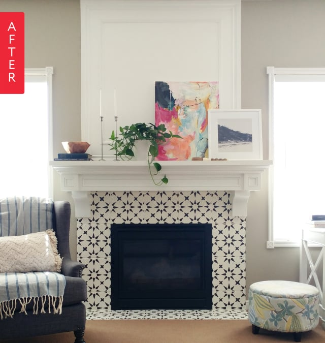 An Easy Diy For A Boring Apartment: Before & After: From Boring Beige To Black & White Beauty