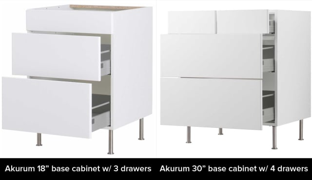 Ikea Akurum Credenza : Ikeas akurum vs. sektion cabinets: whats the difference? kitchn