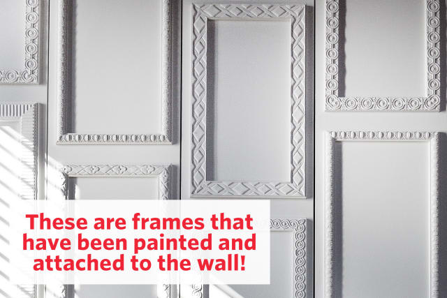 Design Idea: How To Make a Painted Frame Accent Wall   Apartment Therapy