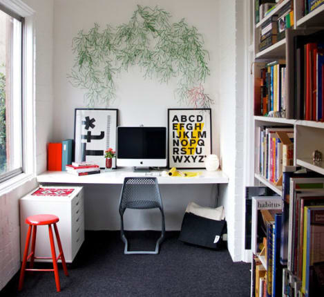 Apartment therapy office Spare If You Havent Yet Clicked Through Danas Sydney House Tour On Apartment Therapy Make Sure To Check It Out Especially The Home Office Apartment Therapy Bright Bold Home Office Get The Look Apartment Therapy