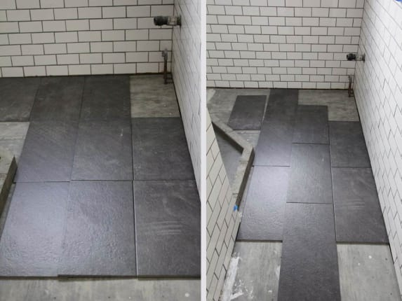Whats The Best Tile Layout For My Bathroom Straight Or Staggered
