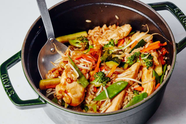 One Pot Recipe Chicken Teriyaki With Vegetables Rice Kitchn