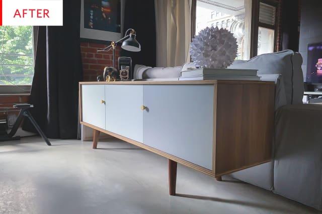 Ikea Besta Credenza Hack : Ikea besta mid century modern credenza hack photos apartment therapy