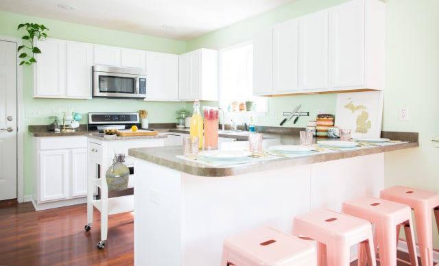 How To Paint Wood Kitchen Cabinets With White Paint Kitchn - Should i paint my kitchen cabinets or replace them