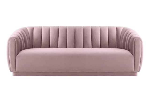 1. TOV Arno Blush Velvet Sofa