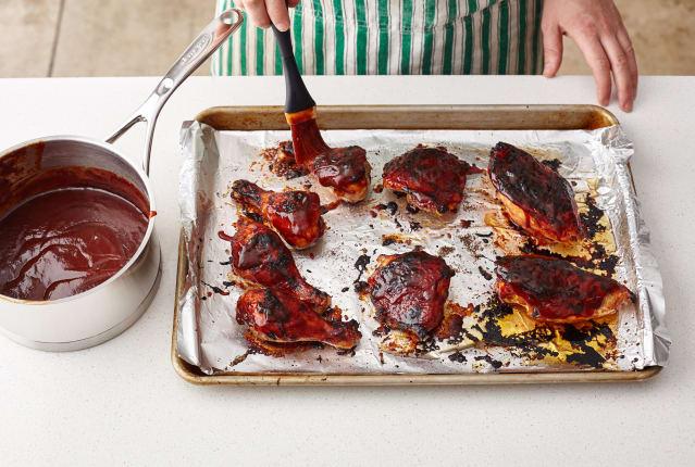 Easy Baked Bbq Chicken Recipe Kitchn