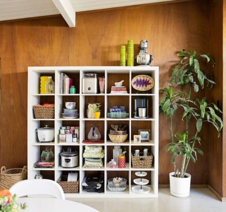 The IKEA Expedit Bookshelf Makes A Great Kitchen Cubby Storage Solution |  Kitchn