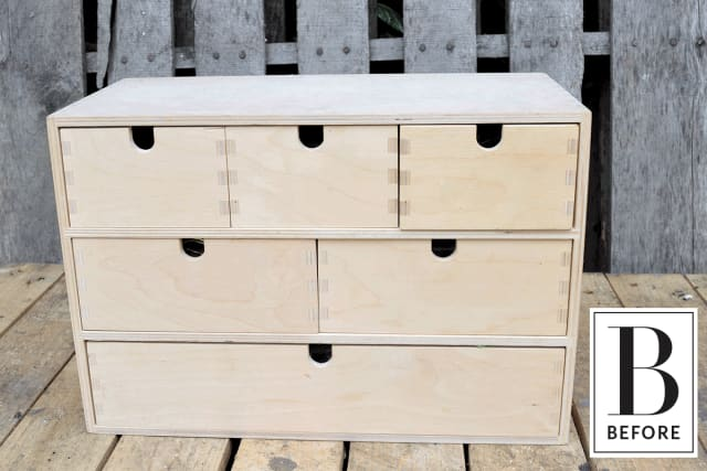 Ikea Malm Credenza : Unfinished ikea drawers get a vintage inspired makeover