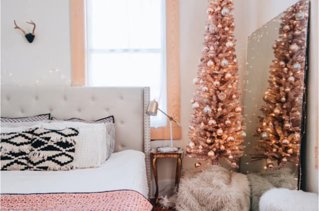 rose gold christmas tree trend where to buy apartment therapy
