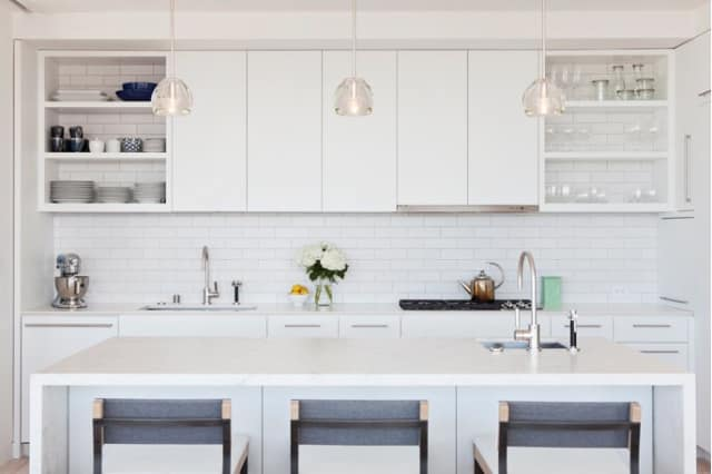 The Finishing Touch For Open Cabinets: Tile The Cabinet Back To Match The  Backsplash | Kitchn