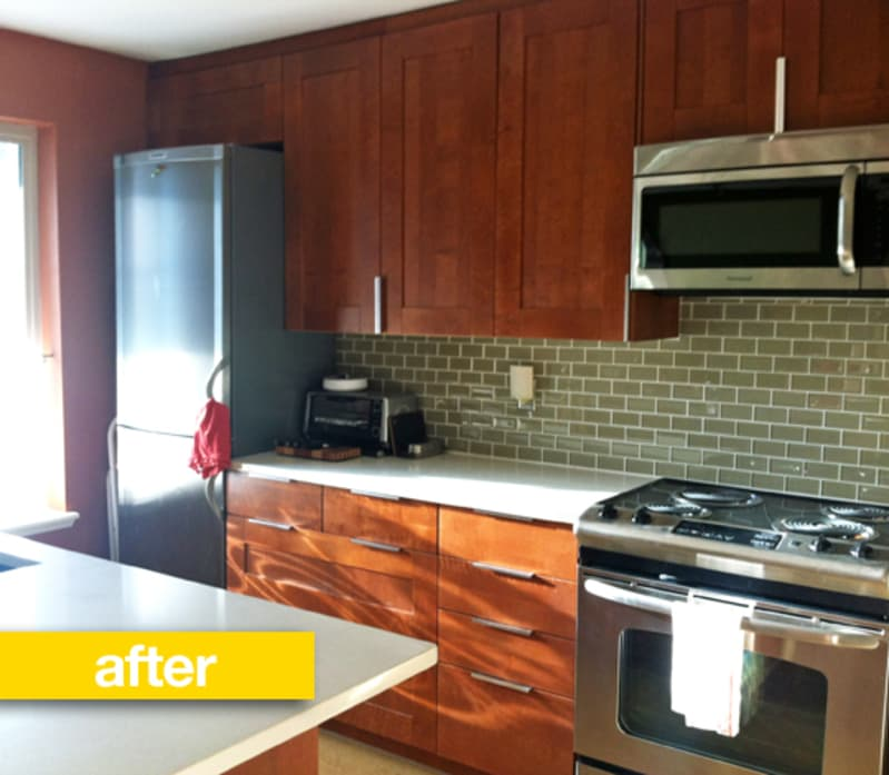 White Kitchen Remodels Before And After: Kitchen Before & After: From Dingy White To Warm Wood