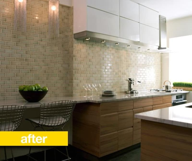 Tiny Home Designs: Kitchen Before & After: A Cramped NYC Kitchen Gets A Chic