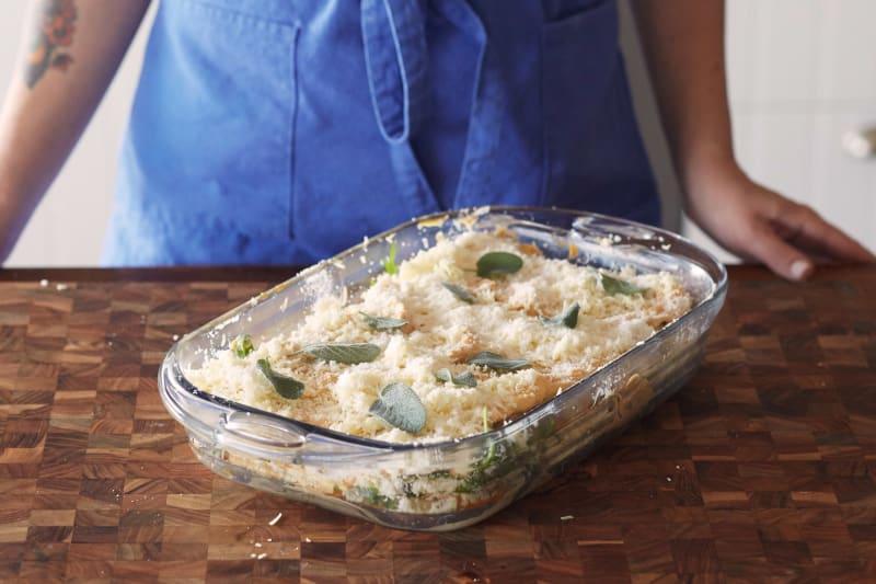 How To Make Vegetarian Thanksgiving Lasagna Kitchn