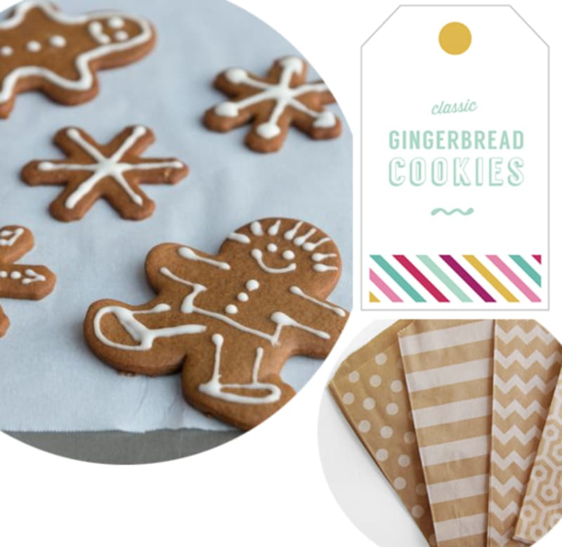 Cookie + Gift Tag: Classic Gingerbread Cookies & Tags For