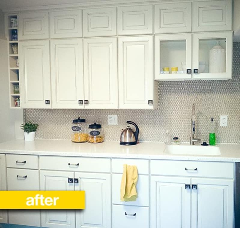 Kitchen Before Amp After From Dark Amp Dated To Light And