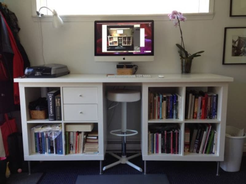 Work Spaces for Small Places: IKEA Expedit to DIY Standing ...
