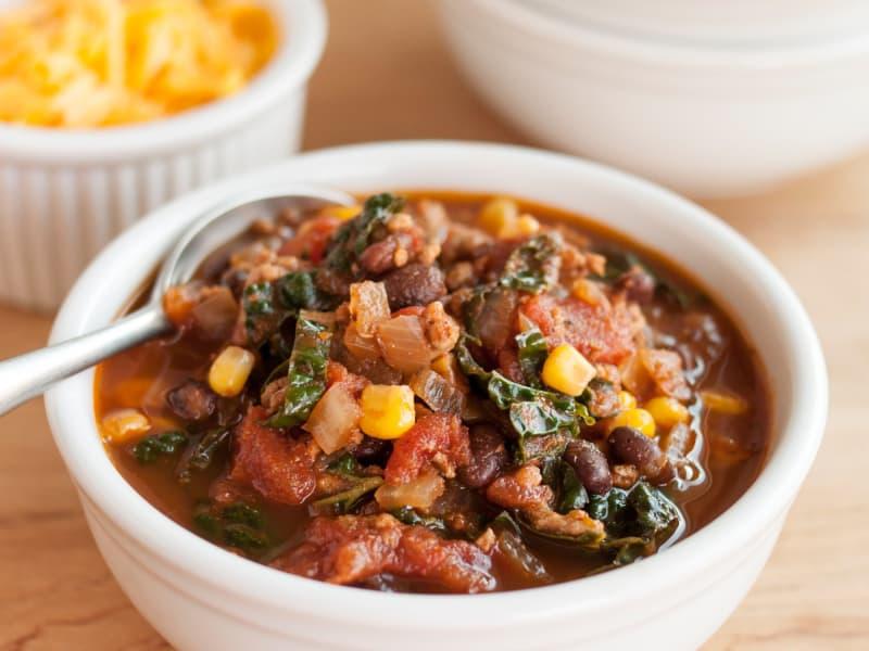 Recipe: Easy Turkey Chili with Kale