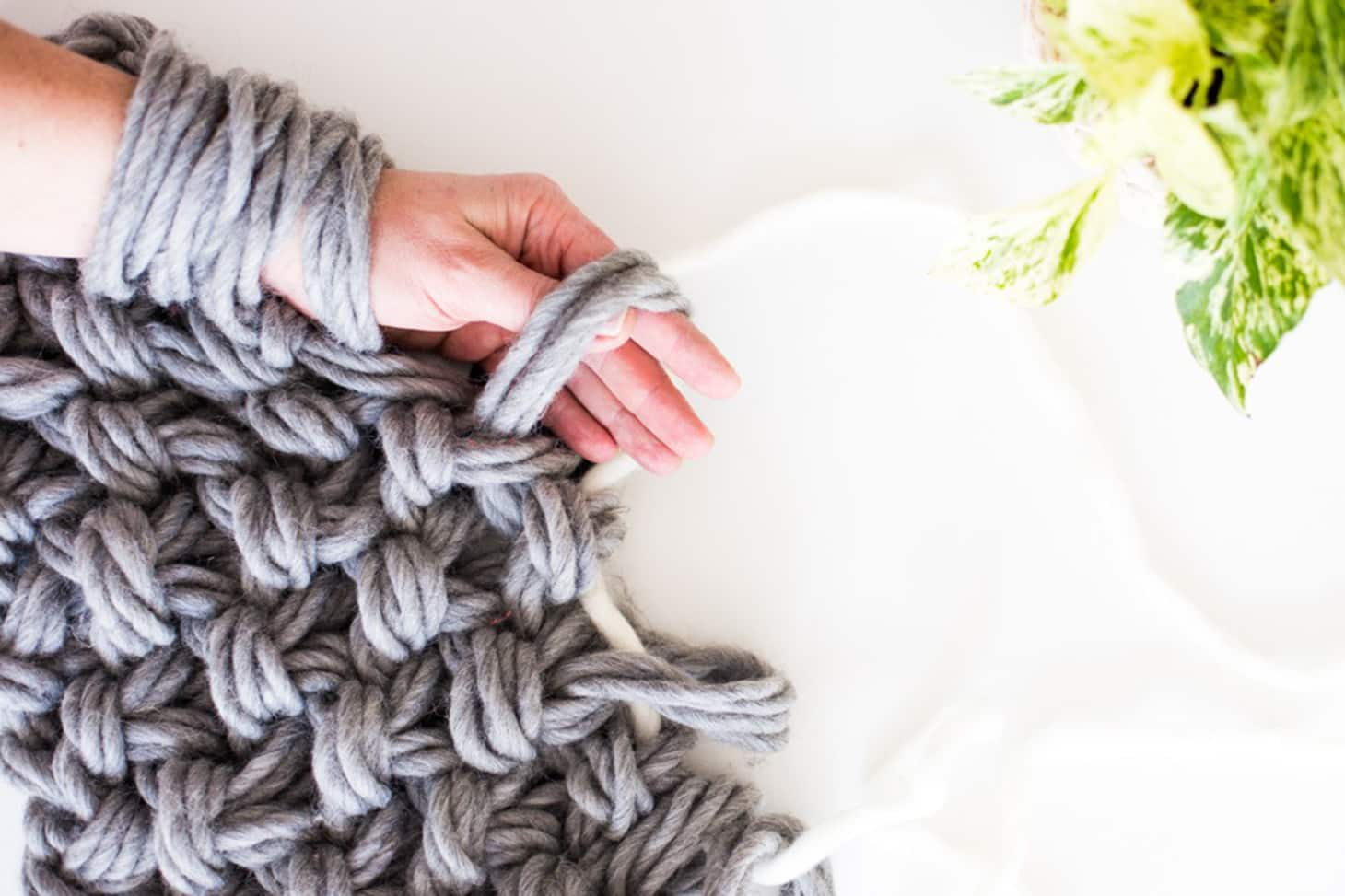 Arm Knitting Everything You Ve Ever Wanted To Know Apartment Therapy