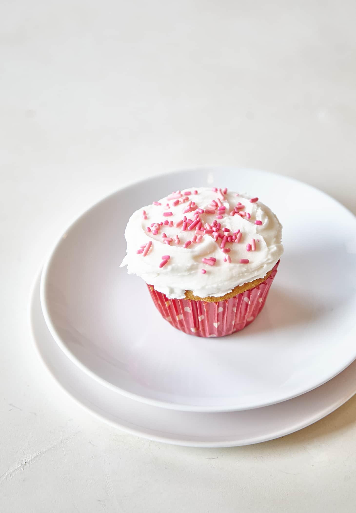 How To Make One Vanilla Cupcake