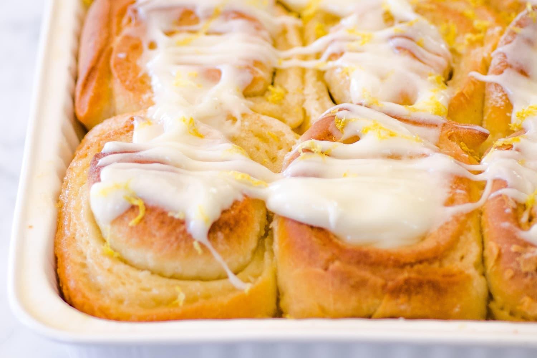 Sticky Lemon Rolls With Lemon Cream Cheese Glaze Kitchn