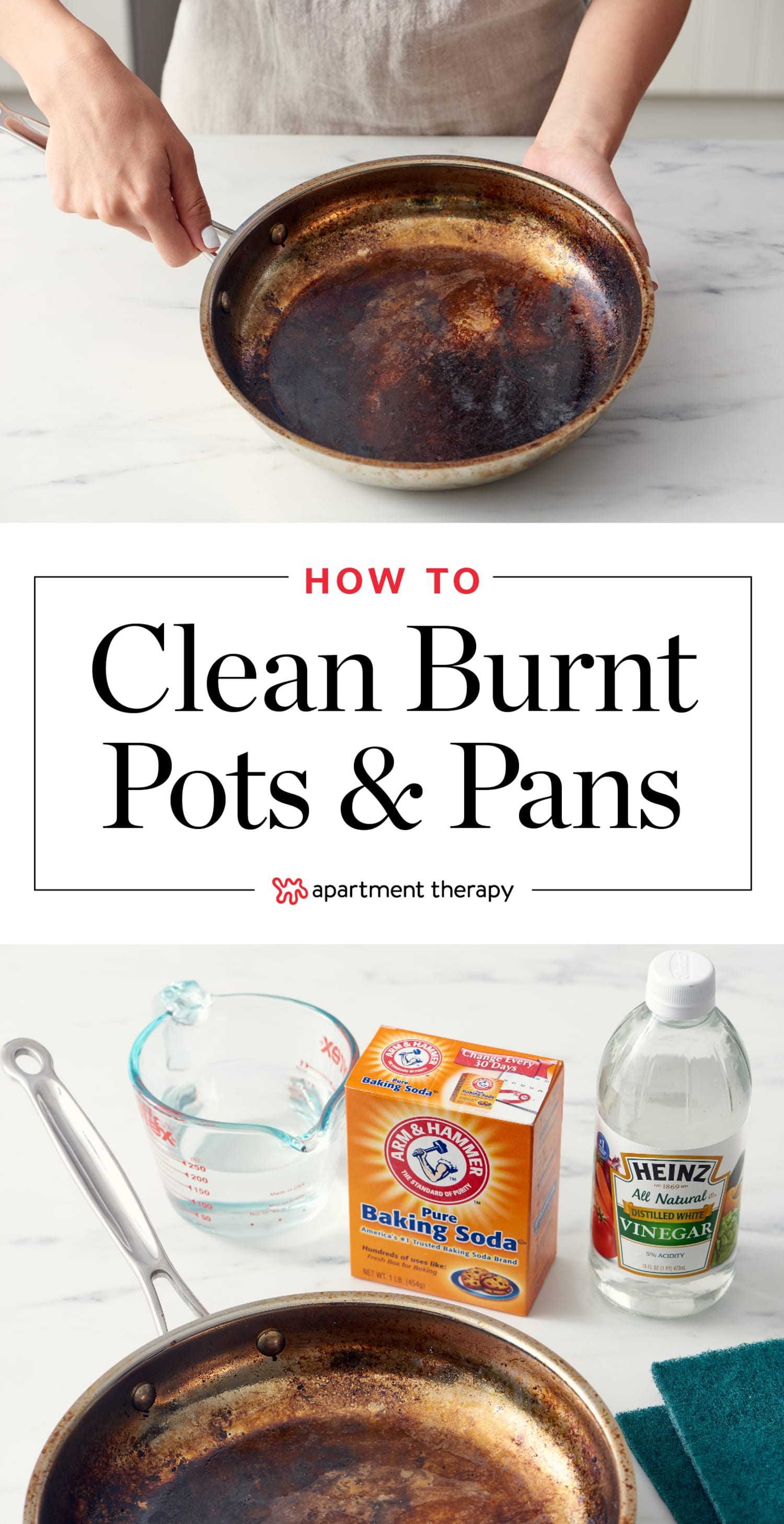 How To Clean A Burnt Pot or Scorched Pan | Apartment Therapy