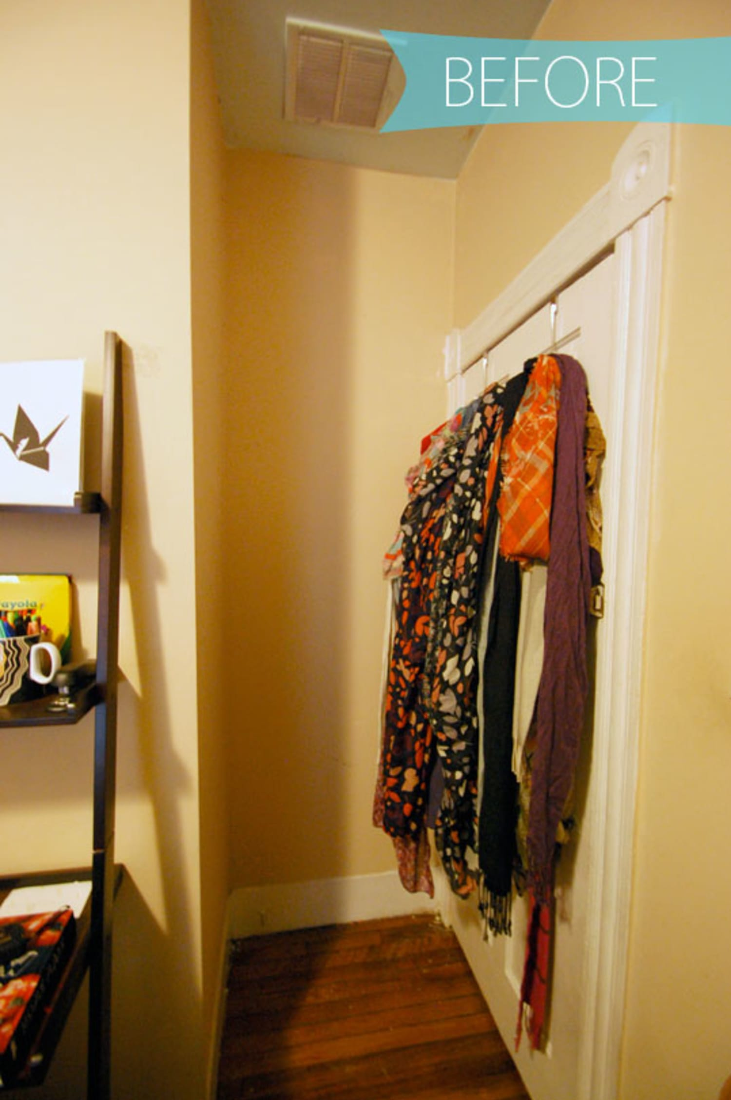 Before Amp After Streamlining Scarf Storage Apartment Therapy