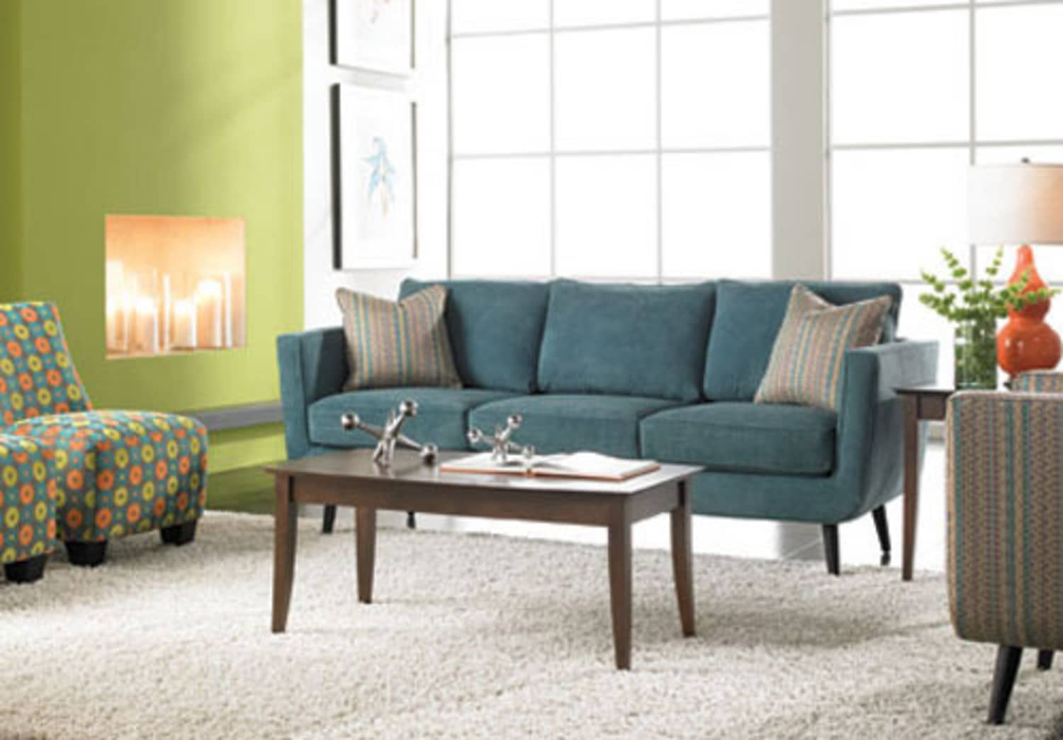 Win: Custom Sofa & Throw Pillows From Rowe Furniture