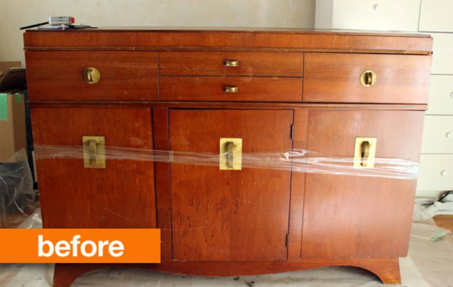 Before & After: Refinishing a Craigslist Console ...