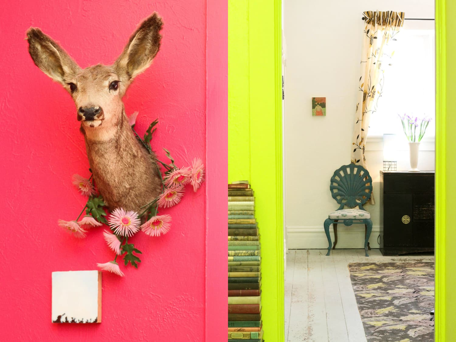House Tour Neon Colors In A Vintage Eclectic House