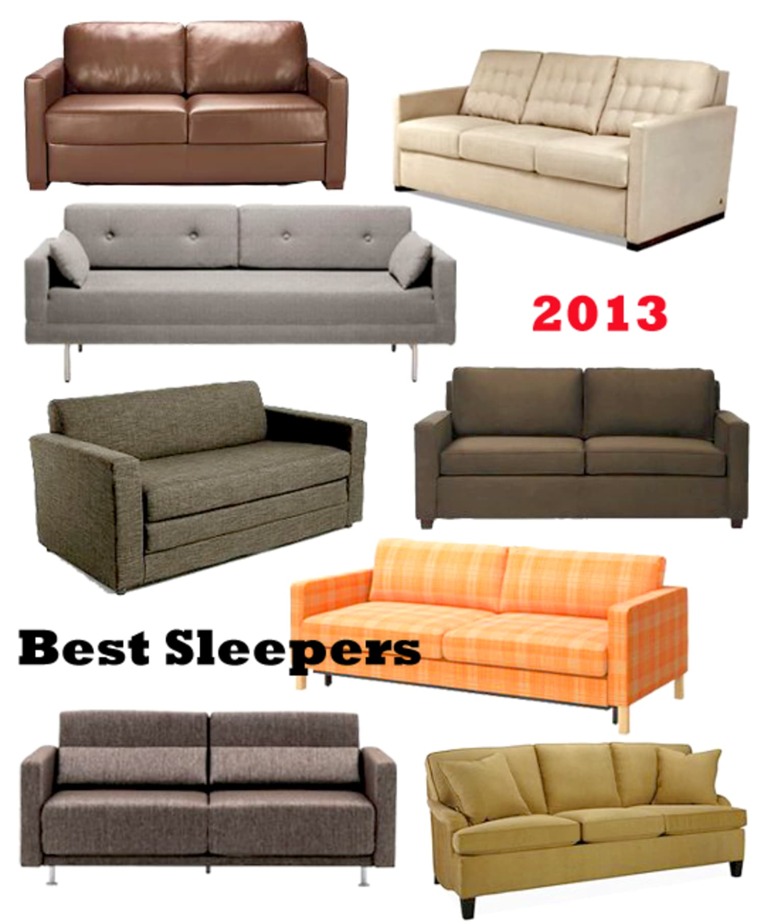16 best sleeper sofas sofa beds 2013 apartment therapy - Best sectionals for apartments ...