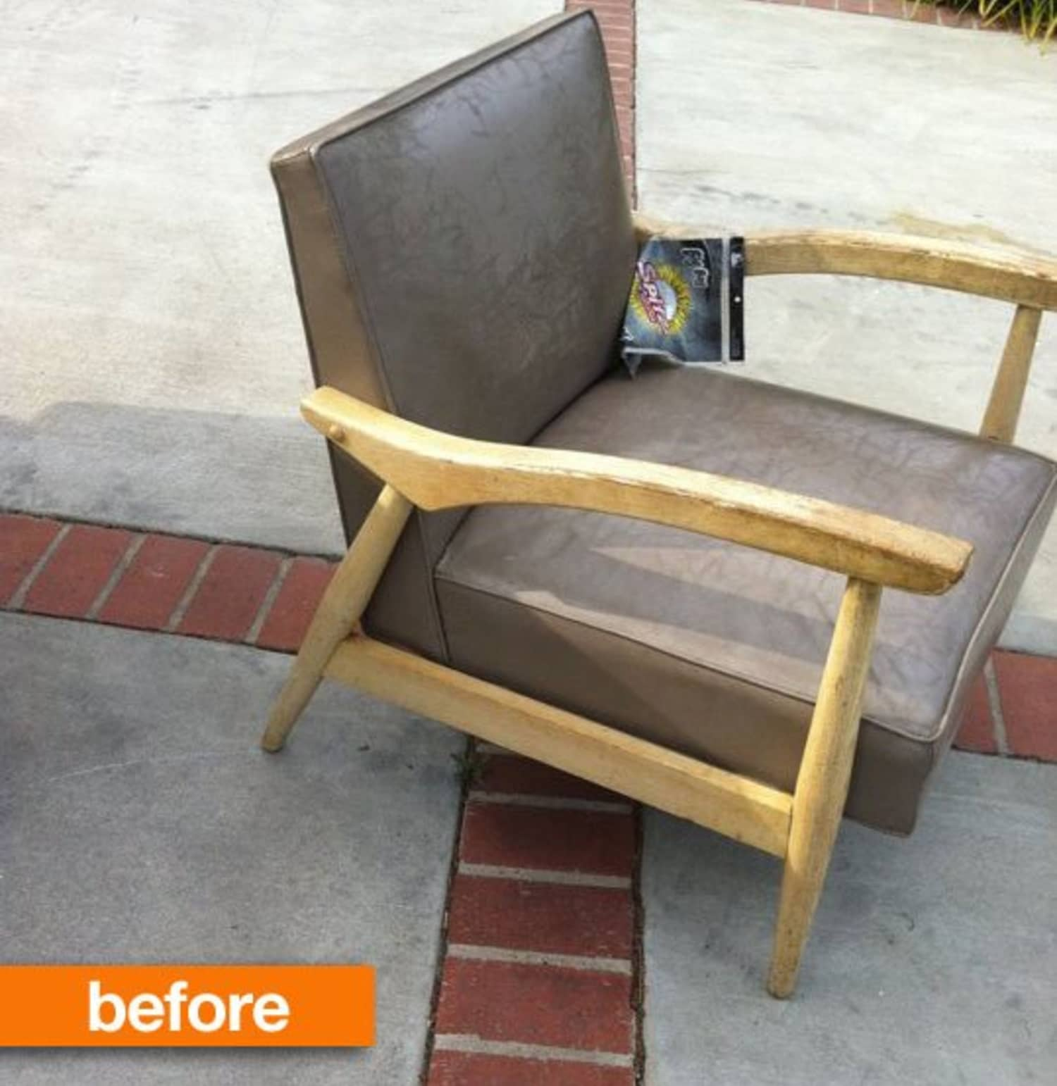 Before Amp After Mcm Chair Gets An Upholstery Redo