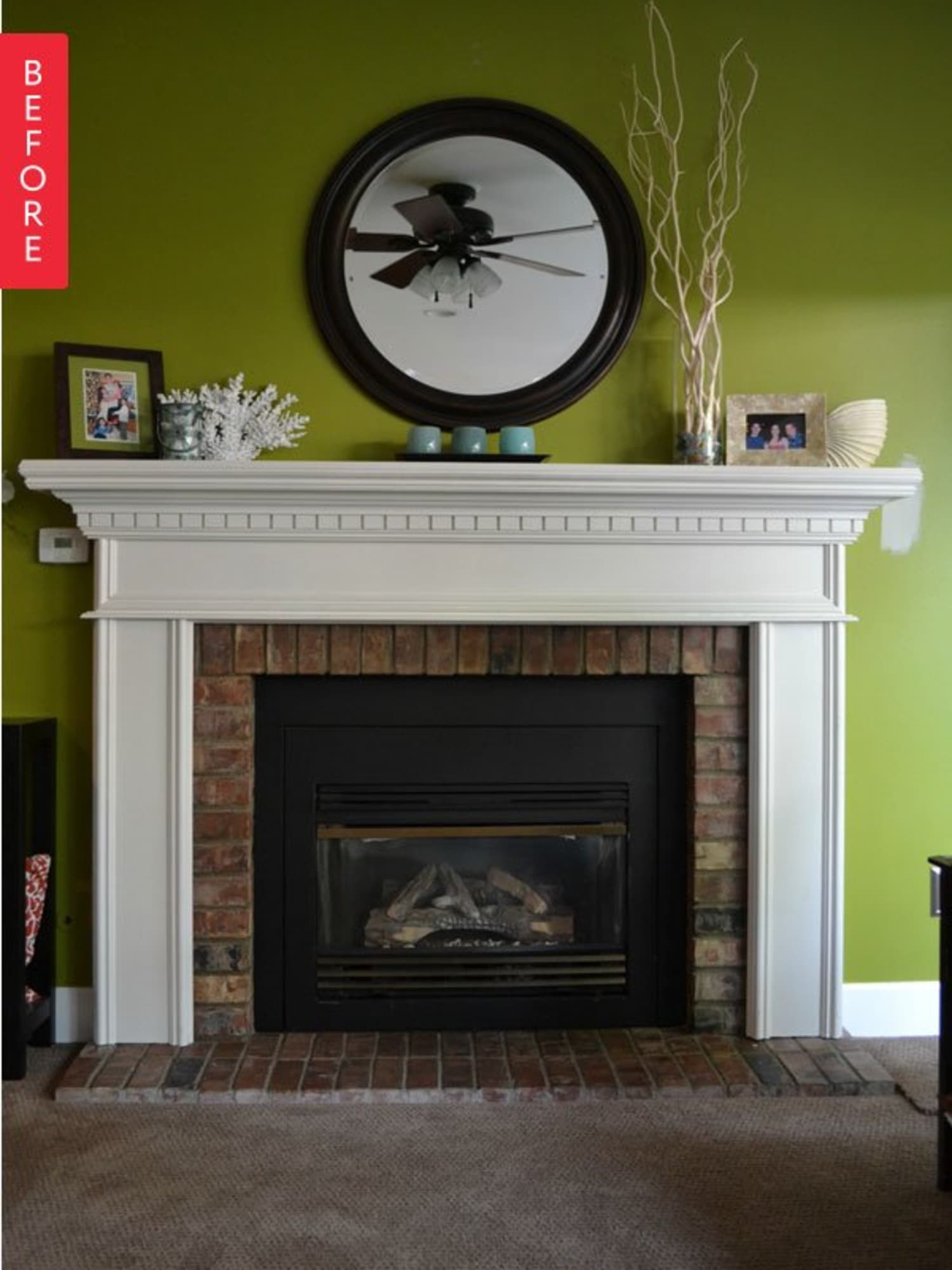 Before Amp After A Major Mantel Makeover Apartment Therapy
