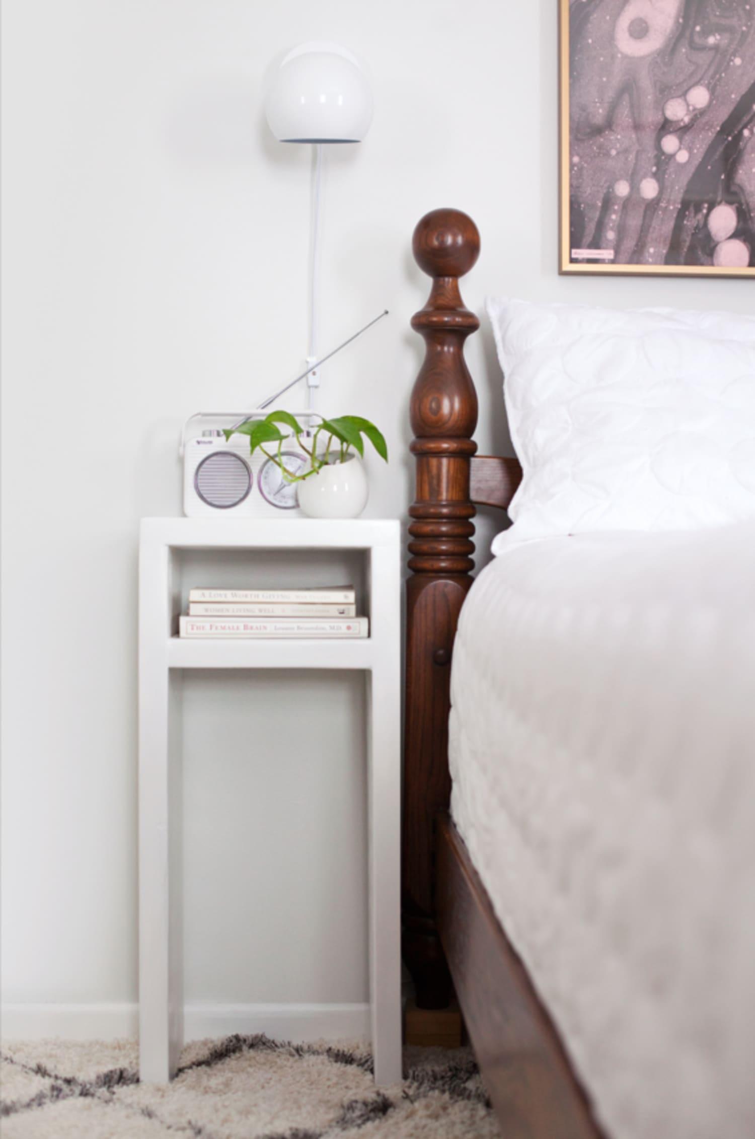 small narrow nightstand