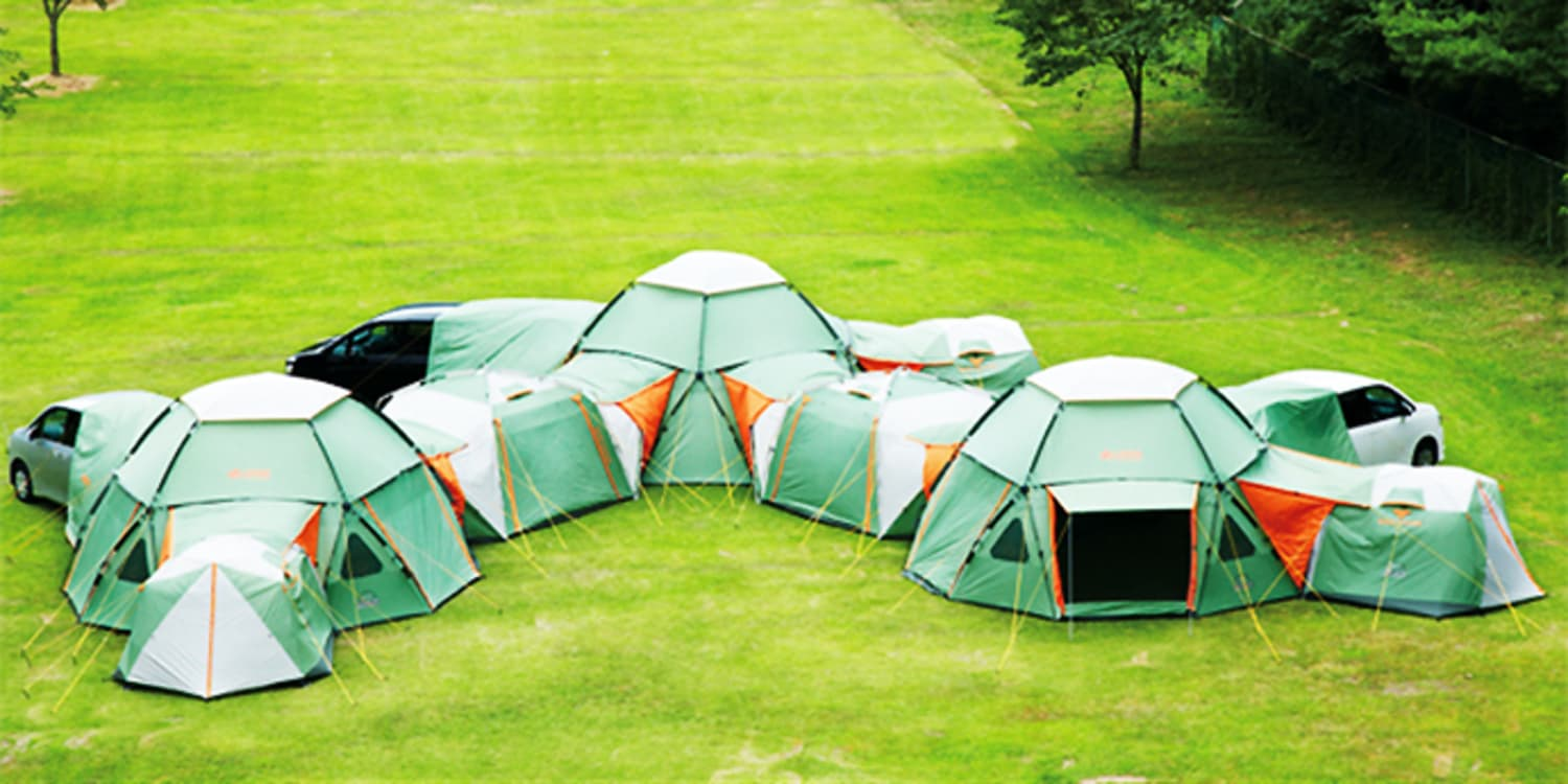online store 73581 3ec14 This Huge Tent Compound Can Sleep Up to 16   Apartment Therapy