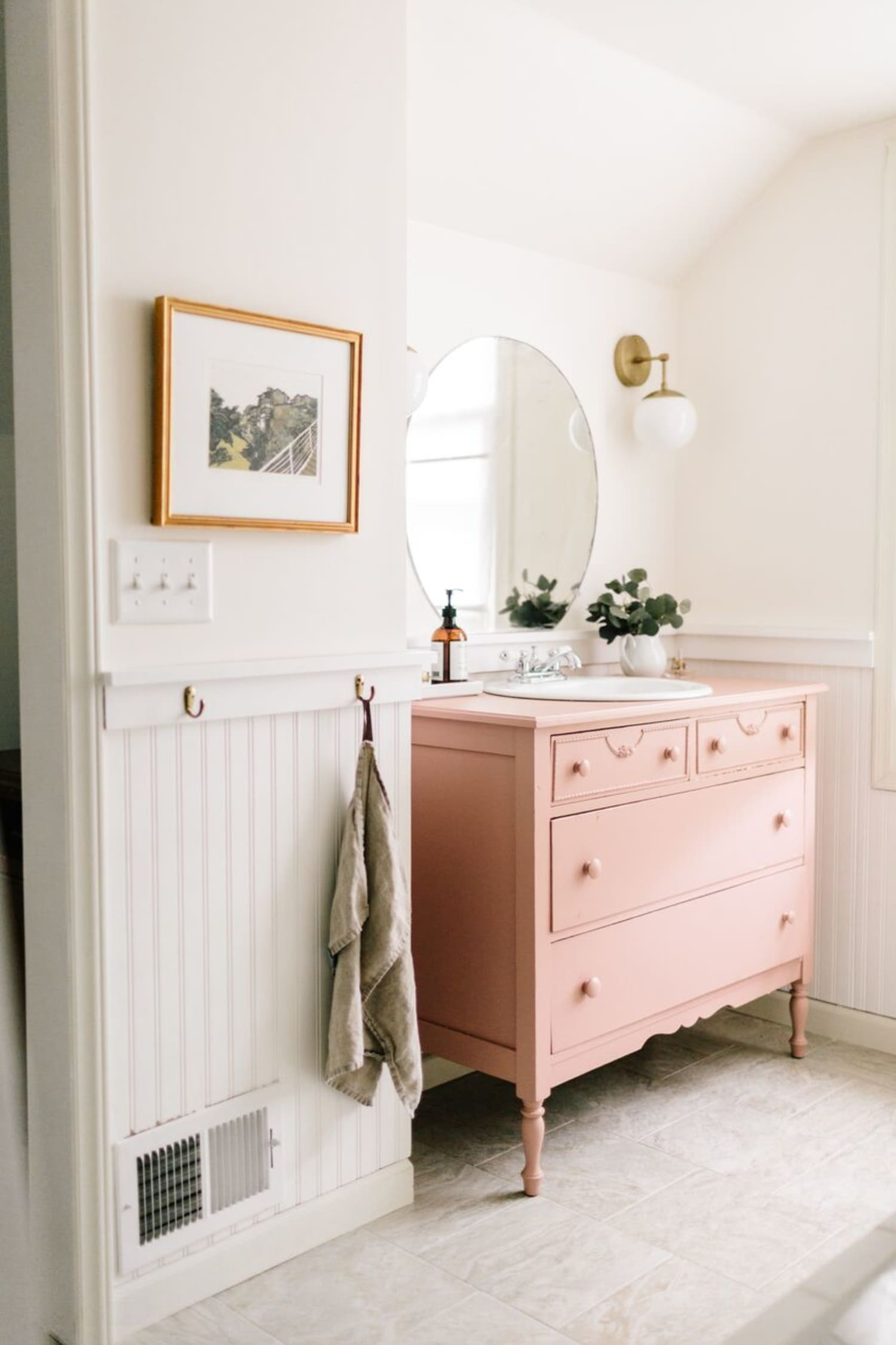 Image of: Bathroom Sink Consoles Made From Vintage Dressers Photos Ideas Apartment Therapy