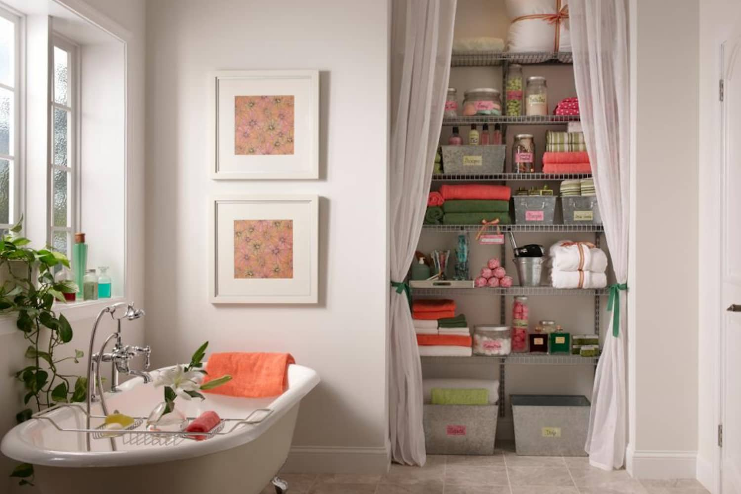 Project Ideas For Hiding Clutter With Curtains & Shades