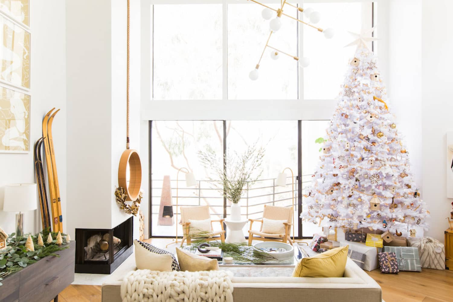 Metallic, White & Colorful Christmas Tree Ideas