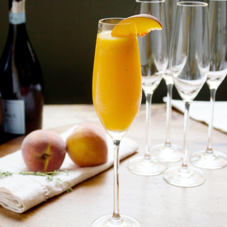 Cocktail Recipe: Peach Thyme Bellini