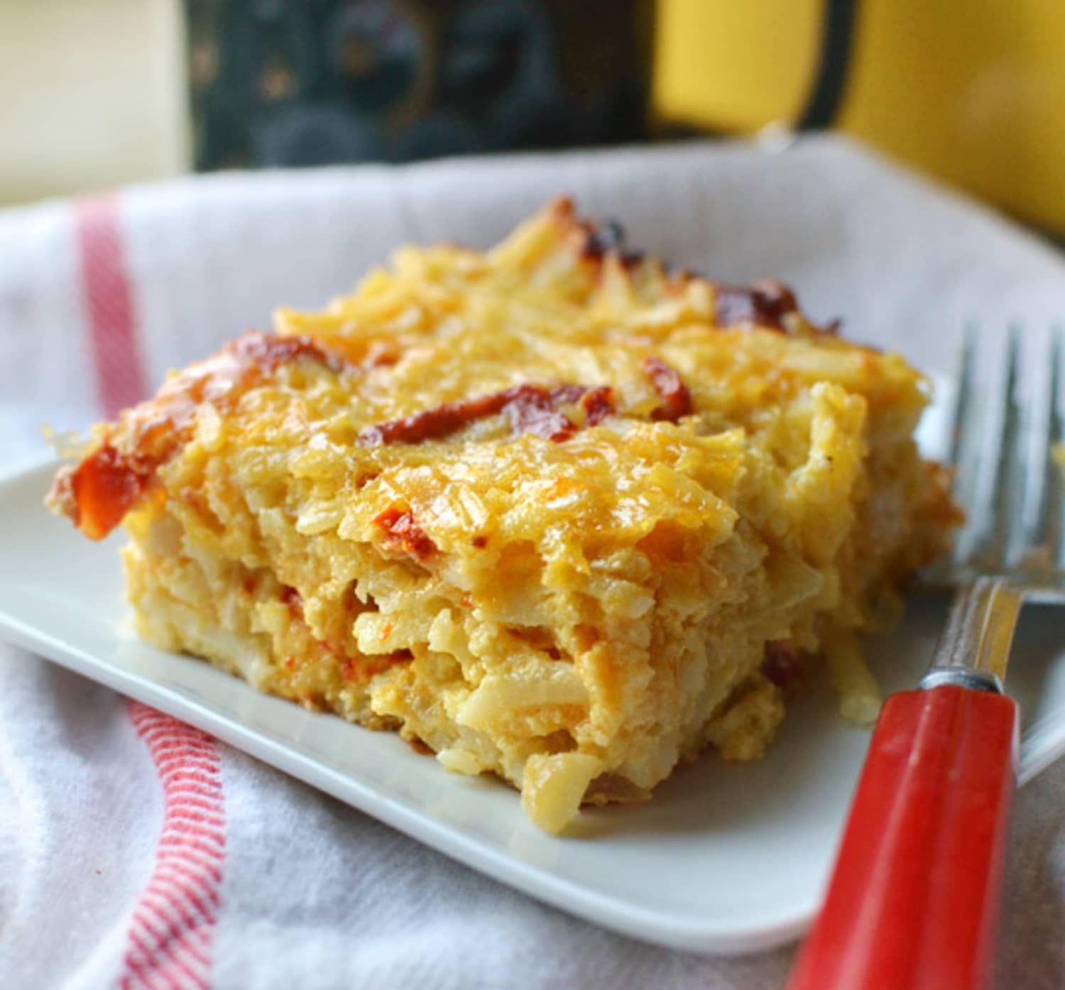 Recipe: Breakfast Casserole With Cheddar & Tomatoes