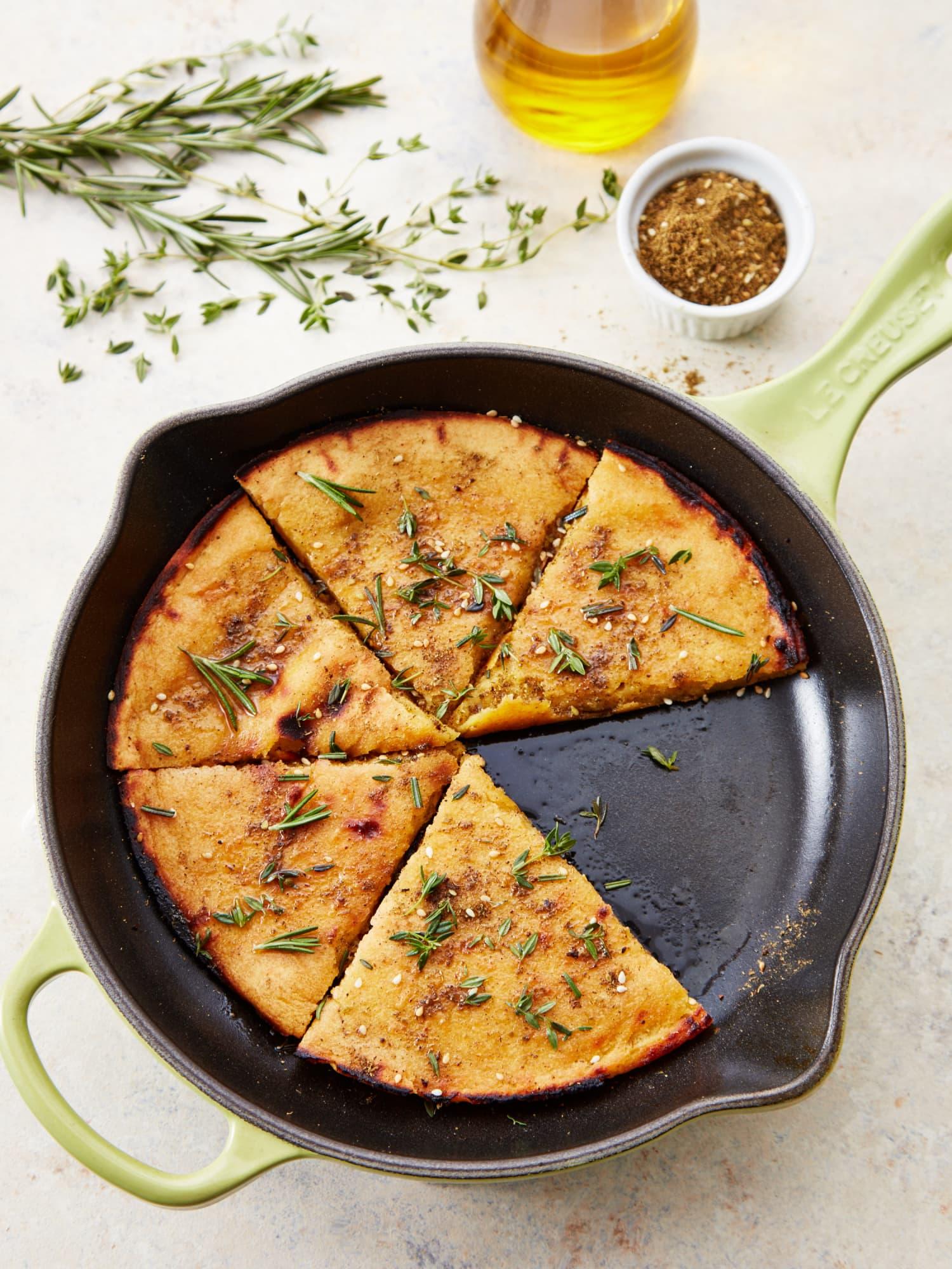 Socca - Gluten Free Chickpea Flour Flatbread Recipe | Kitchn  Garbanzo