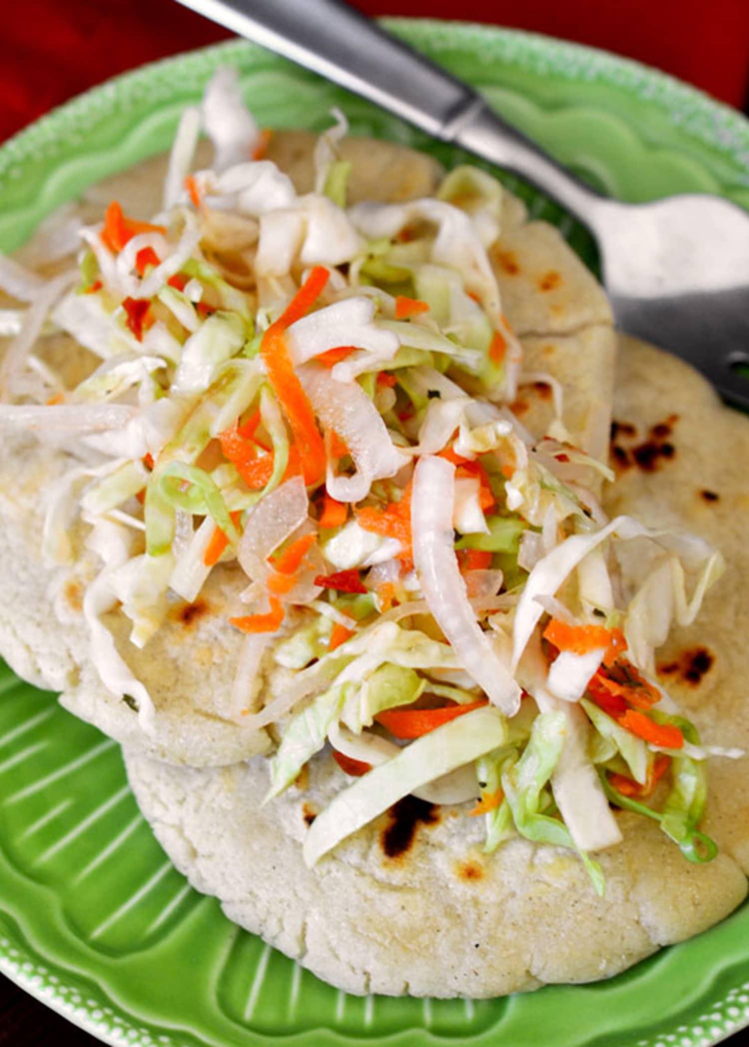 Recipe: Salvadoran Pupusas con Curtido (Masa Cakes with ...Salvadoran Pupusas