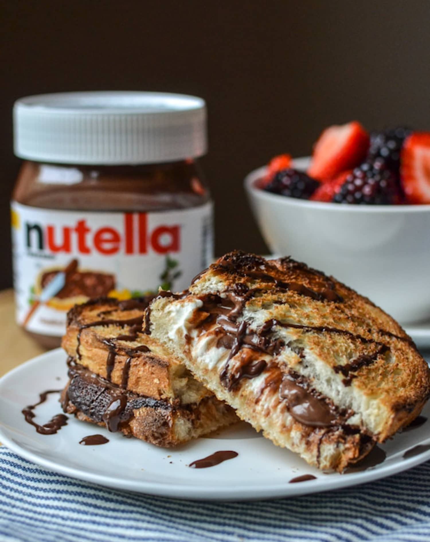 Dessert Recipe Hot Baked Nutella Cream Cheese Sandwich Kitchn