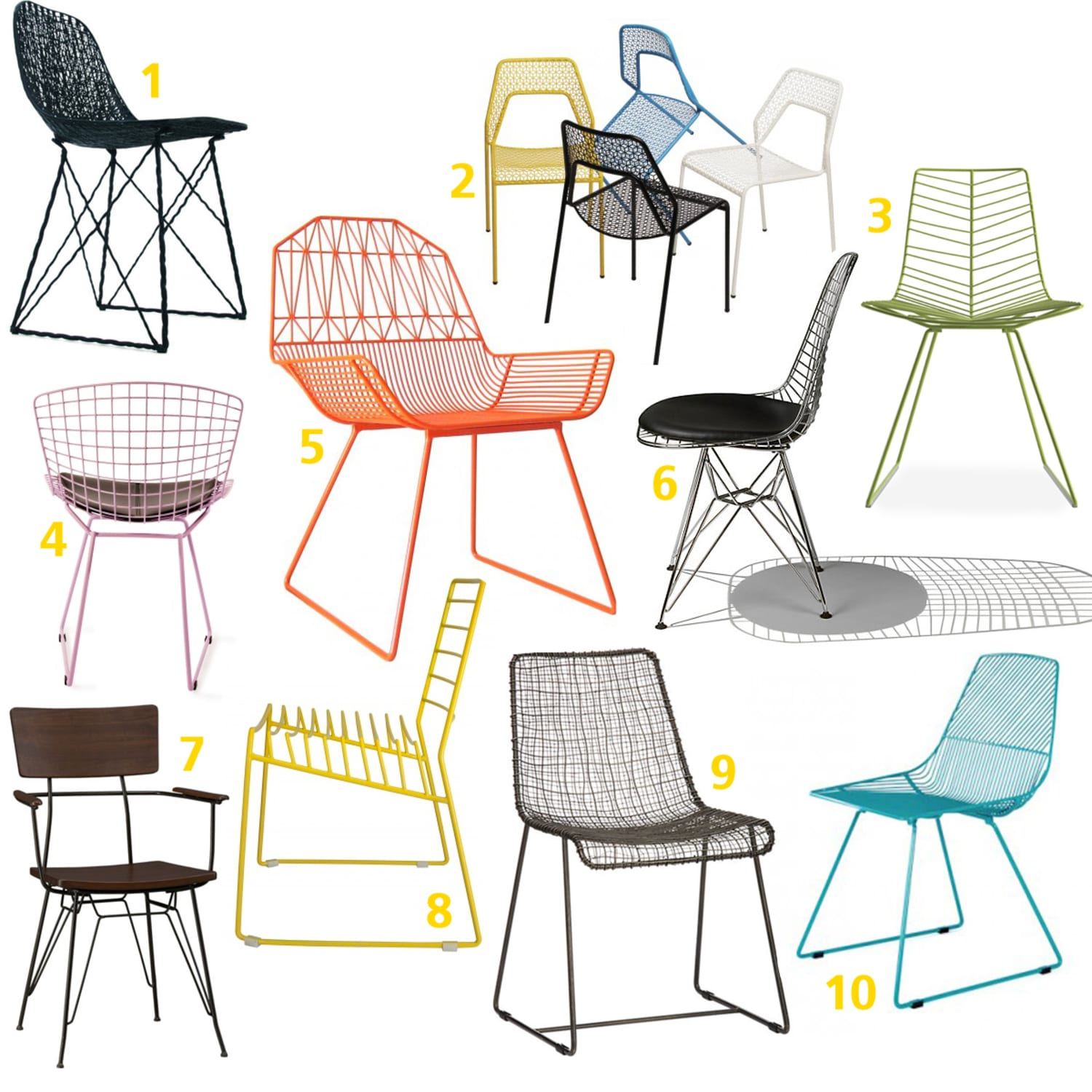 metal dining room chair | Wire and Metal Mesh Dining Room Chairs | Kitchn
