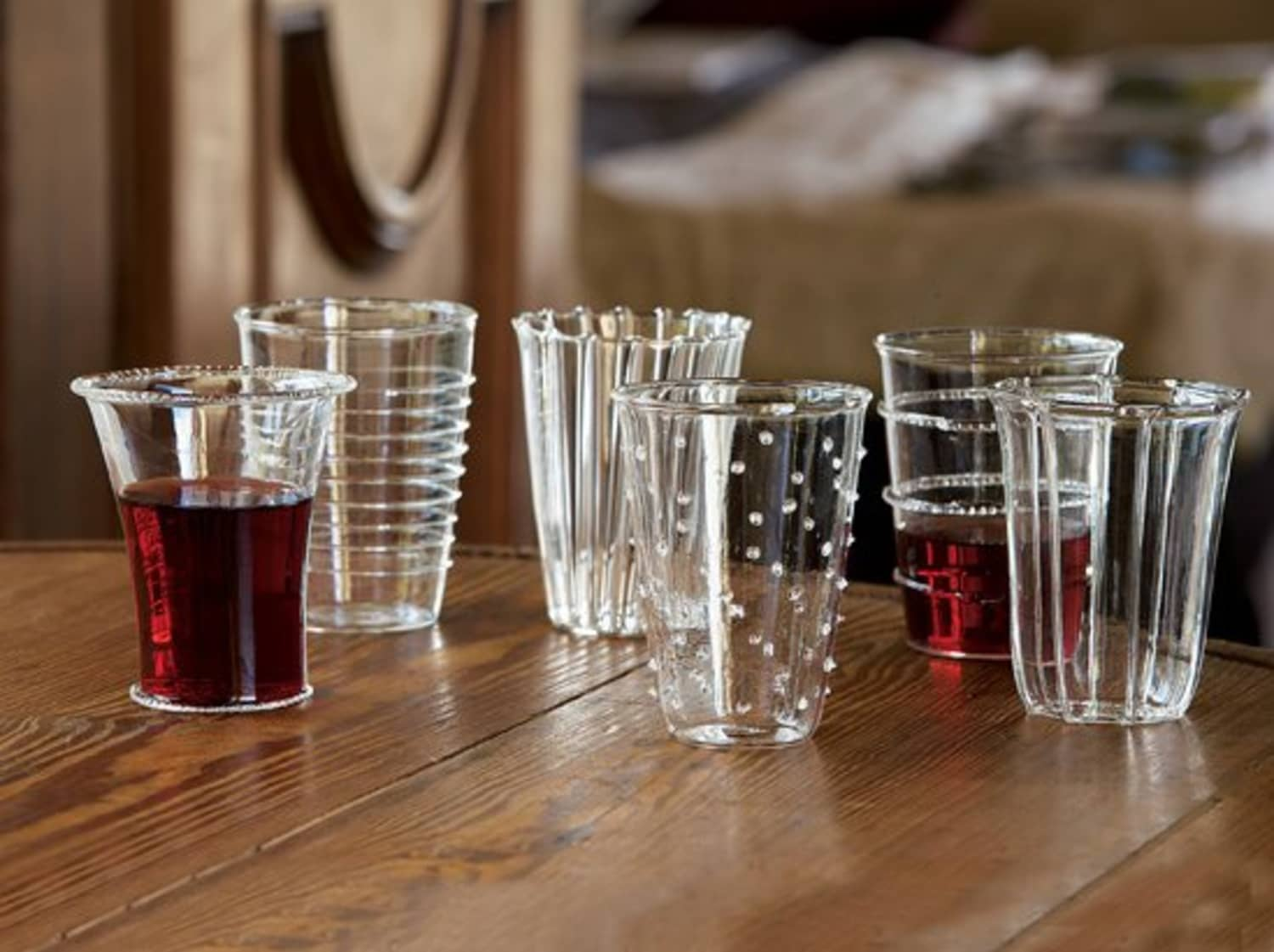 Venetian Style Glass Tumblers From Napastyle Kitchn