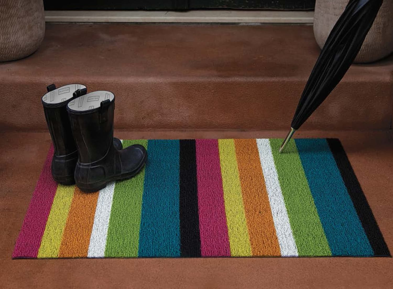 Shag Bold Stripe Indoor Outdoor Floor Mats From Chilewich